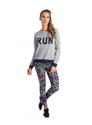 'RUN' long sleeve sweat shirt