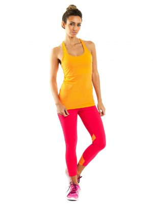 BrasilSul pink & orange leggings