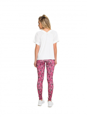 Pink camo patterned leggings