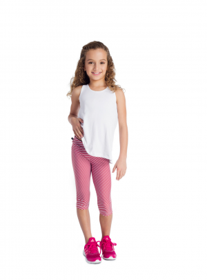 Girls Nautical striped leggings