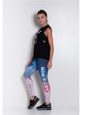 'Let's Run' Reversible leggings