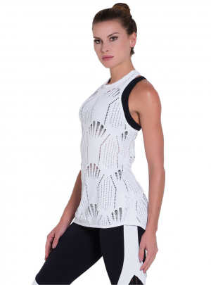 Arana stretch lace singlet