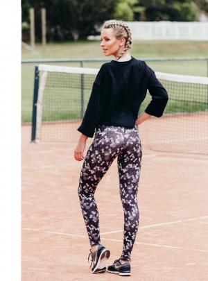 Geometric ankle length leggings