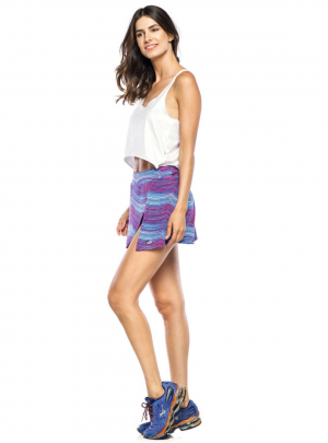 Plumine patterned skirt/shorts