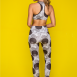 Animal print crop top & 7/8 leggings