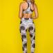 Animal print crop top & 7/8 leggings