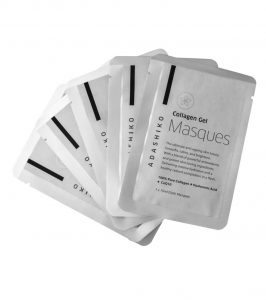 Create Glowing skin in a flash with Adashiko Collagen Gel Cloth Masques