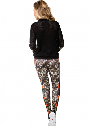 Cintura camo ankle length leggings