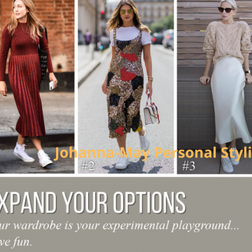 Your wardrobe is your experimental playground, have fun!